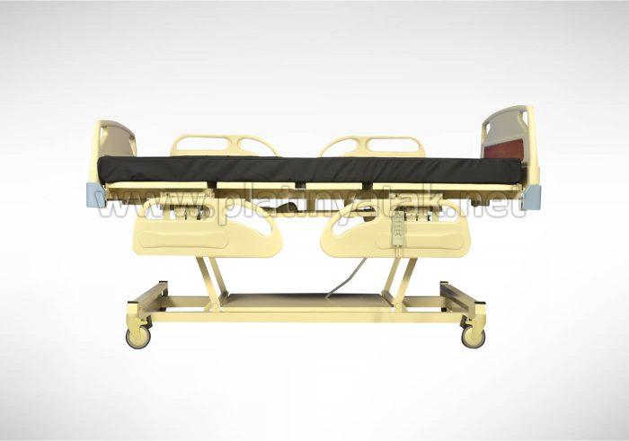 4 motorlu hasta karyolası platin yatak